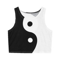 YIN YANG CROP TOP from foreveronline