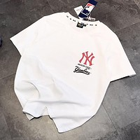 NY MLB Popular Women Men Casual Print Short Sleeve T-Shirt Top