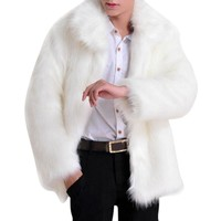 *Men\'s Faux Leather Luxury Jacket Parker Faux Fur Fashion men Hair Jacket Overcoat Lady Jacket Luxury Fur Coat Features*