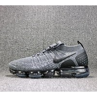 2018 Nike Air VaporMax Flyknit 2.0 Grey Black 942842-002 Sport Running Shoes - Sale