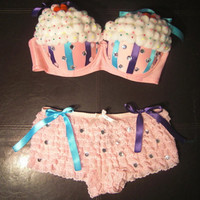 Cupcake Outfit by ClassyRaveAttire on Etsy