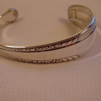 A Spoon Rings Plus Spoon Cuff Bracelet  See Description For Size Vintage Fork and Spoon Jewelry cc119