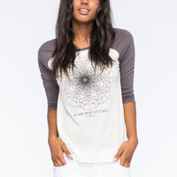 Oneill Pathway Womens Raglan Tee Cream  In Sizes
