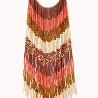 Down To Earth Fringe Necklace