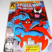 Spider-man Unlimited Comic 1993, NM Fabulous 1st issue, Marvel Comics, bagged and boarded, collectible comics Spider-man, Gingerslittlegems