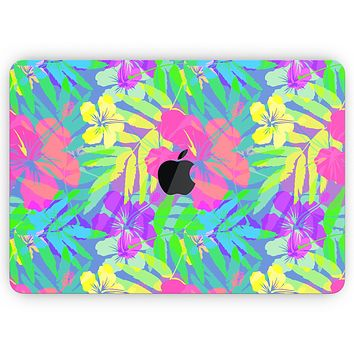 """Tropical Fluorescent v1 - Skin Decal Wrap Kit Compatible with the Apple MacBook Pro, Pro with Touch Bar or Air (11"""", 12"""", 13"""", 15"""" & 16"""" - All Versions Available)"""