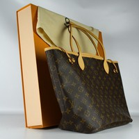 Louis Vuitton Neverfull GM Monogram Women's Purse Handbag Tote Bag Pink Brown