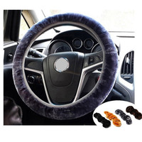 Soft Plush Car Auto Steering Wheel Cover Solid Winter Grips Car Accessory 34cm = 6014804999