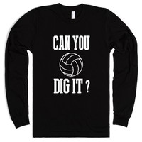 Skreened Can You Dig It Volleyball Tee Black-Unisex Black T-Shirt
