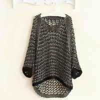 Women Sweater Long Sleeve Knitwear Jumper Hollow Coat