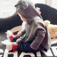 New Baby Fashion Winter Autumn Infant Knitted Sweater Boys Girls Child Children  Outerwear Clothes Cloak Kids Coat