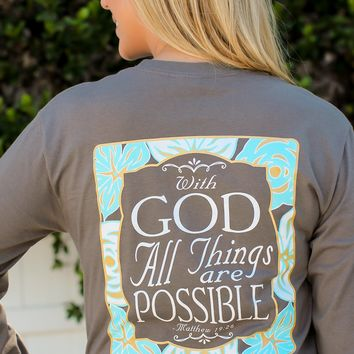Southern Darlin' -  With God All Things Are Possible Tee