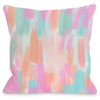 """Molly"" Outdoor Throw Pillow by OneBellaCasa, 16""x16"""
