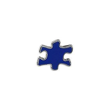 Blue Puzzle Piece Autism Pin