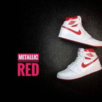 DCCK Air Jordan 1 Retro High OG Metallic Red Men's Sneaker US7-13