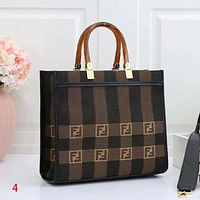 FENDI Fashion Leather Handbag Satchel Tote