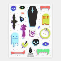 Simple Colorful Halloween Stickers | HUMAN