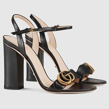 GG Leather Sandal Shoes