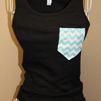 Pocket Tank Top by SewSnazzybyBrook on Etsy