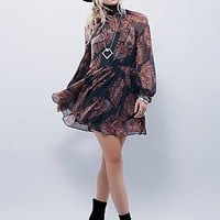 Free People Womens Moonstruck Printed Mini Dress