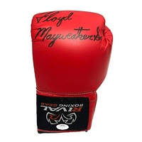 Floyd Mayweather Sr. Hand Signed Rival Boxing Glove JSA COA Autograph Red