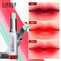 lip gloss lipstick makeup 8 color gradient color Korean style Two color tint lip stick lasting waterproof lip balm
