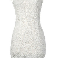 Now & Forever Lace Dress - White -  $58.00 | Daily Chic Dresses | International Shipping