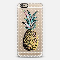 Pastel Party Pineapple White Polka Dots  iPhone 6s case by Organic Saturation | Casetify
