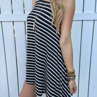 Black + White Stripe Tunic