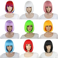 Synthetic 10inch Straight Short Bob Wigs