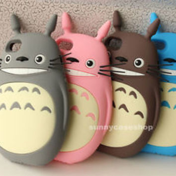 3D New Cute My Neighbor Totoro Soft Silicone Case cover for iphone 7 6S plus 5s