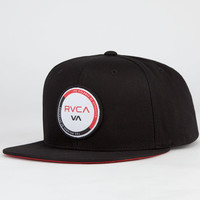 Rvca Two Tone Mens Snapback Hat Black One Size For Men 23516510001