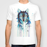 -Dark Wolf- T-shirt by PeeGeeArts