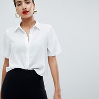 ASOS DESIGN soft shirt with short sleeves at asos.com