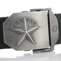Marine corps tactical Belts Military Canvas Belt For Mens & Woman Buckle Ceinture Jeans Casual 140 160cm