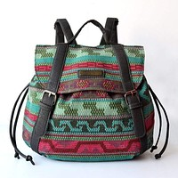 vintage backpack casual daily string  Bohemian Style bag backpack travel backpacks
