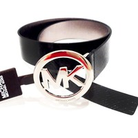 Michael Kors Wide Belt Buckle Glossy Black Medium