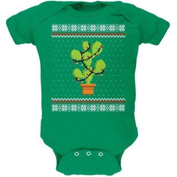 CREYON Cactus Prickly Pear Tree Ugly Christmas Sweater Soft Baby One Piece