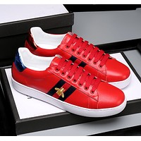 :Gucci:Trending Fashion Casual Sports Shoes Red