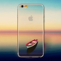 Seaside Boat Tourism Scenery iPhone 5 5S iPhone 6 6S Plus Case + Gift Box-125