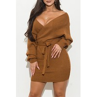 Make A Statement  Dress Camel