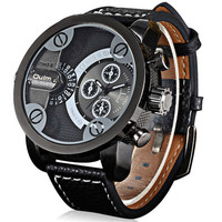 Mens Racing Leather Watches Boys Outdoor Sports Mountaineering Watch Best Christmas Gift
