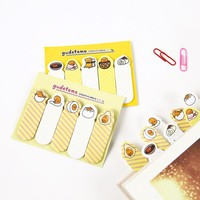 AB41 Cute Kawaii Gudetama Lazy Egg Self-Adhesive Memo Pad Sticky Notes Bookmark School Office Supplies