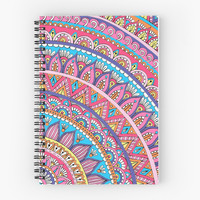 'Colorful Corner Mandala ' Spiral Notebook by Sarah Oelerich