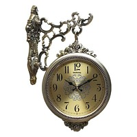 Antique Gold Finish Digital Decorative Wall Clock