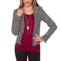 Eliza Tweed Blazer - Grey