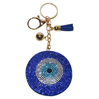 Evil Eye Key Chain for Women Purse Charm Backpack Charm Crystal Bling Key Ring Key Holder
