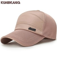 Trendy Winter Jacket 2018 New Summer Mesh Baseball Cap Jeans Snapback Hat Casquette Sports Leisure Sun Hat Quick Drying Breathable Cap For Men Women AT_92_12