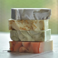 Pick 4 Artisan Soap   - FATHERS DAY  Vegan Soap  -  Essential Oil Soap  - Sustainable Palm Oil