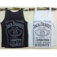 Tank top Jack daniels Crop Tank Tops whiskey by ImageToShirt